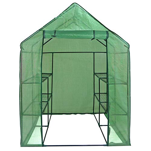 ZENY Mini Walk-in Greenhouse with PE Cover Portable Plants Flower Garden House - Grow Plants,...
