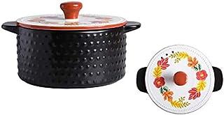 BLLXMX Casseroles Ceramic Covered Casserole, Dish With Lid Earthen Pot 1.6L 2L 4L (Size : 2L)
