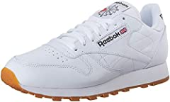 DURABLE AND LIGHTWEIGHT MATERIAL: These sneakers feature soft leather upper that is supportive and comfortable EFFICIENT FOOT SUPPORT: These athletic trainers with die-cut EVA midsole provides support which lasts many strolls and jogs REMOVABLE ORTHO...