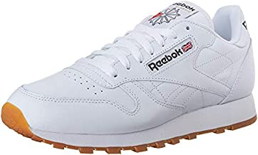 Reebok Men's Classic Leather Nylon, White/Gum, 11