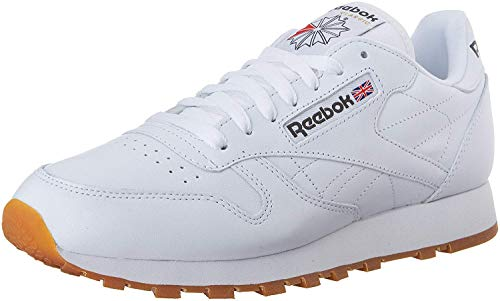 Reebok mens Classic Leather Casual Sneakers, White/Gum, 9.5 US