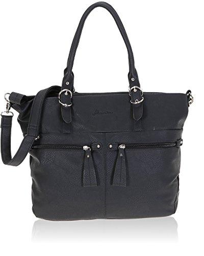 ALESSANDRO® Handtasche ETERNA Schultertasche Shopper + Nagelset (Schwarz)