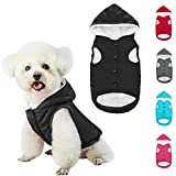PUPTECK Dog Winter Clothes with Hat, Soft Warm Cold Weather Dog Coats for Small Medium Dogs, Comfortable Dog Jacket Best Gift for Puppies