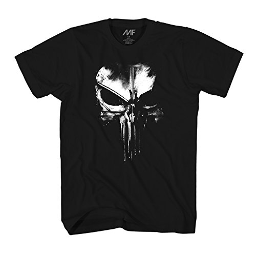 Marvel The Punisher Dirty Skull T-Shirt (Black, X-Large)