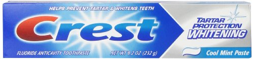 Crest Tartar Protection Whitening Cool Mint Flavor Toothpaste 8.2 Oz (Pack of 4)