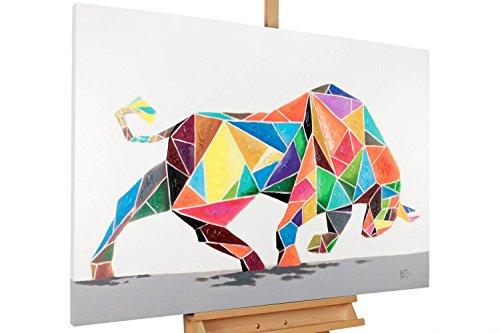 KunstLoft® Acryl Gemälde 'Geometric Strength' 120x80cm handgemalt Leinwand Bild