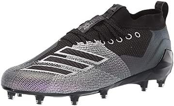 adidas Men's Adizero 8.0 Football Shoe, Black/Night Metallic/Grey, 15 M US