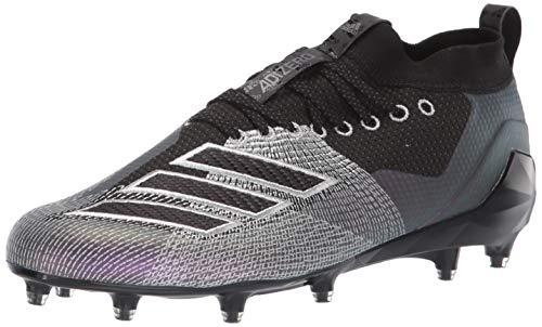 adidas Men's Adizero 8.0 Football Shoe, Black/Night Metallic/Grey, 14 M US