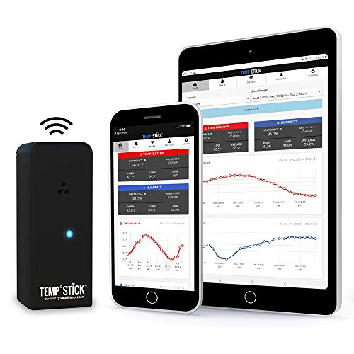 Temp Stick Wireless Remote Temperature & Humidity Sensor. Connects Directly to WiFi. Free 24/7 Monitoring, Alerts & History. Free iPhone/Android Apps, Made in America. Monitor Anywhere, Anytime!