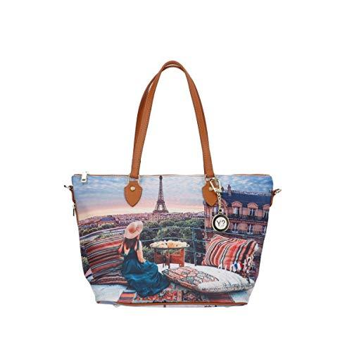 YNOT Borsa Shopping Bag YES-396S0 PARIS VIEW - mis. cm. 41x26,5x15,5…