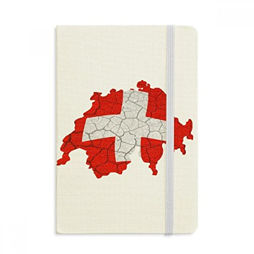 DIYthinker Map Zwitserland Abstract Vlag Patroon Notebook Stof Hard Cover Klassieke Dagboek A5 A5 (144 X 210mm) Multi kleuren