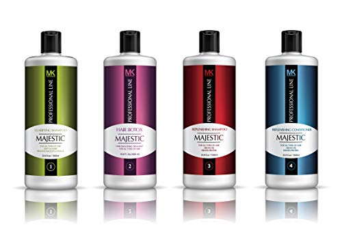 Majestic Hair Botox 1000ml (33.8oz) COMPLETE KIT - Formaldehyde Free - MADE IN USA