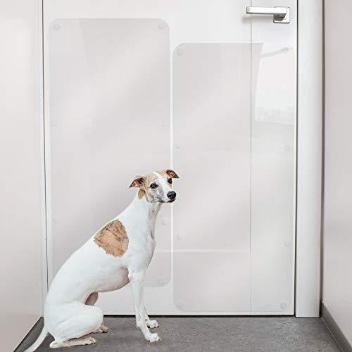 PROTECTO 2-Pack Protector Anti-Arañazos de Puertas: Protector Anti-Garras de Perros y Gatos – 90 x 40 cm Protección Resistente Anti-Arañazos de los Muebles – Grande, Duradera y Transparente