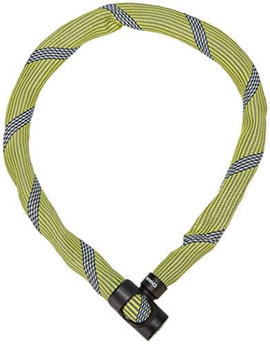 ABUS Kettenschloss Ivera Chain 7210/110 Racing Yellow – Fahrradschloss mit Kunstfaserummantelung – Sicherheitslevel 8 – 85 cm – 87782 – Gelb