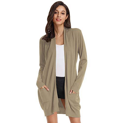 Suéter de Las Mujeres Chaqueta de Punto Otoño Elegante Ancho elástico Color sólido S CLAF1003-4
