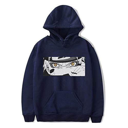 WLKJ Sudadera con Capucha Unisex Harajuku Hoodie de Hombre Impreso Streetwear Fashion Casual Sudadera Chaqueta (Color : Lan4, Size : XXXL)