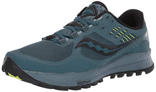 Saucony Men's Xodus 10 Walking Shoe, Steel, 12.5 M US