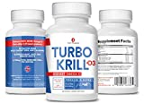 3Care Turbo Krill 2100mg [High Concentrate] Krill Oil Plus 600 IU Vitamin D Omega 3 Supplement 60 Count Softgels