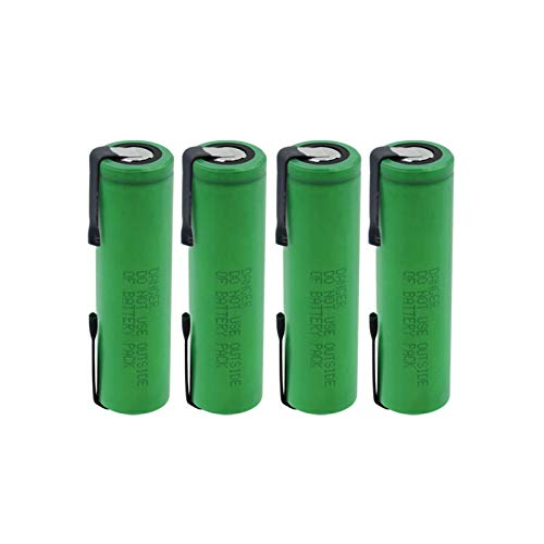 NHFGJ 1/2/4 Piezas batería Recargable de Iones de Litio de 3,7 v vtc6 18650 batería de Litio con pestañas de níquel Alto Drenaje 30a celda 3000 mah para Juguete RC 4pcs