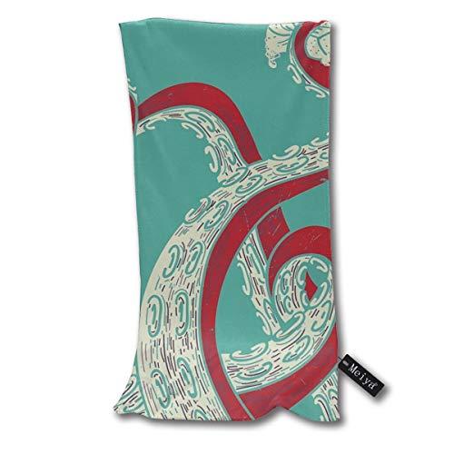 Vilico Kraken - Toalla de baño súper absorbente, pequeña, ultra suave, toallas de mano multiusos para baño, piscina, gimnasio y spa, 12 x 27.5 pulgadas