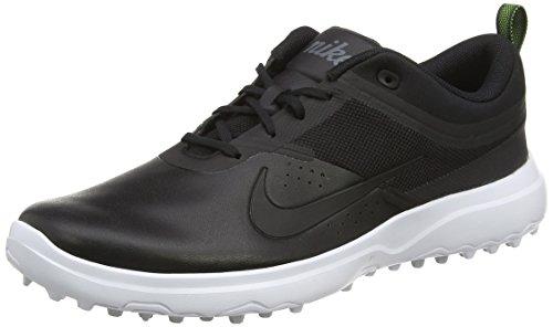 Nike Nike Damen Akamai Golfschuhe, Schwarz (Black/Dark Grey/White/Pure Platinum), 41 EU