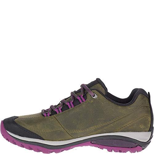 Merrell womens Siren Traveller 3 Hiking Shoe, Olive/Purple, 7.5 US