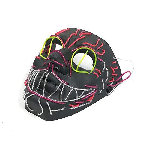 Clevoers EL - Máscara Luminosa para Halloween, Gato Brillante, para Bailarinas,...