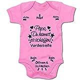 G-graphics Papa, Du Kannst es schaffen! Baby Body Suit Strampler (250.0211) (0-3 Monate, pink)