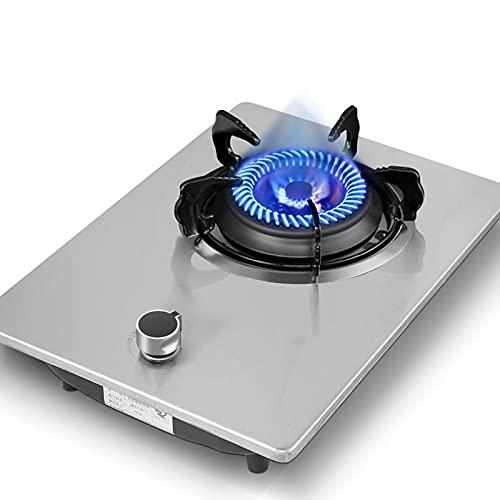 HPRM Gas di Gas Naturale a Risparmio energetico, Piano Cottura a Forno a Forma di Chiusura a termocoppia Pannello in Vetro temperato, Dispositivo di Protezione per Bambini, per la casa
