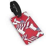 Bahrain Fahne mit Amerika-Flagge, Gepäckanhänger, Kofferetiketten, Tasche, Reisezubehör, Ausweiskarten für Gepäck, Reisekennzeichen