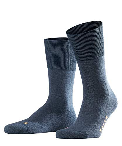 FALKE Unisex Socken Run, Baumwollmischung, 1 Paar, Blau (Navy Blue Melange 6490), Größe: 44-45