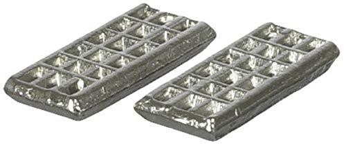 Melody Jane Maison de Poupées Miniature 1:12 Échelle Cuisine Accessoire Paire de Métal Ice Cube Plateaux