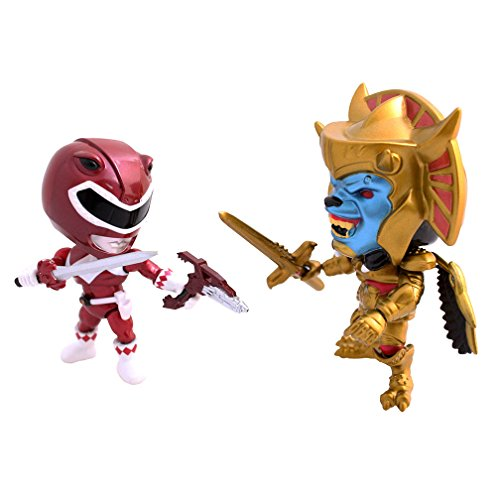 Mighty Morphin Power Rangers ninja pack 2 figurines Metallic Goldar vs Red Ranger 8 cm