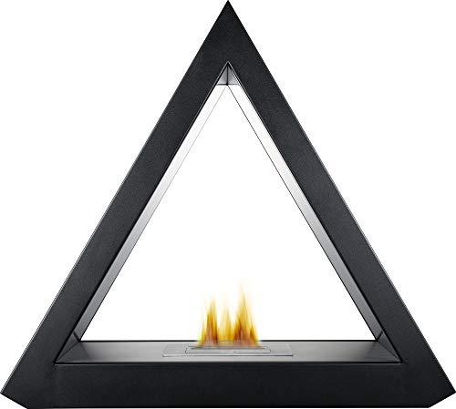 Adam The Geo Bio Ethanol Fireplace Suite in Black, 39 Inch