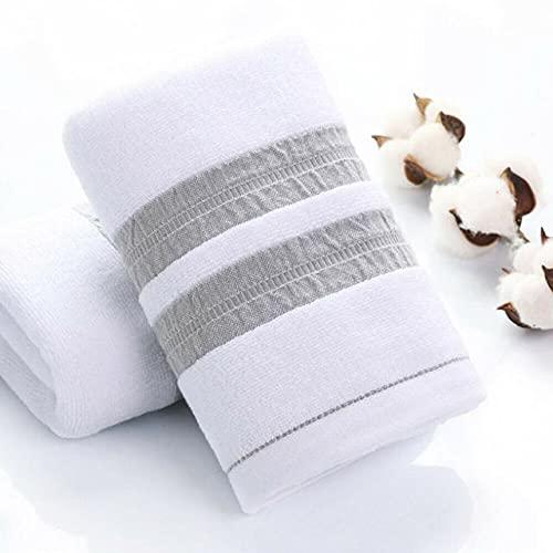 LIANGANAN algodón Suave Toallas de baño for Adultos Absorbente Terry Lujo Hoja Mano Playa del baño Cara Hombres Mujeres Toallas básicas (Color : White, Size : 34x75cm)