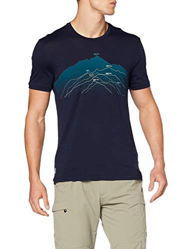 Icebreaker Spector Seven Summits - Maglietta da Uomo in Lana Merino, Blu, S