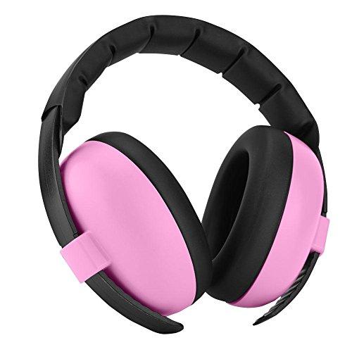 VBESTLIFE Kinder Gehörschutz, 0-2 Jahre Alt Baby Gehörschutz Ohrenschützer für Kinder Baby Gehörschutz Kopfhörer/Good Sleep/SNR 27 Hörschutz (Pink)