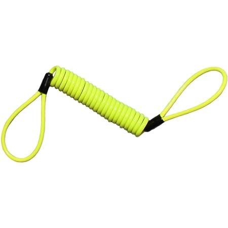 Shiwaki 150cm Erinnerungskabel Reminder Cable Für Bremsscheibenschloss Gelb Auto