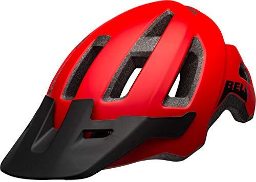 BELL Nomad, Casco da Bicicletta MTB Uomo, Rosso Opaco/Nero, Taglia unica