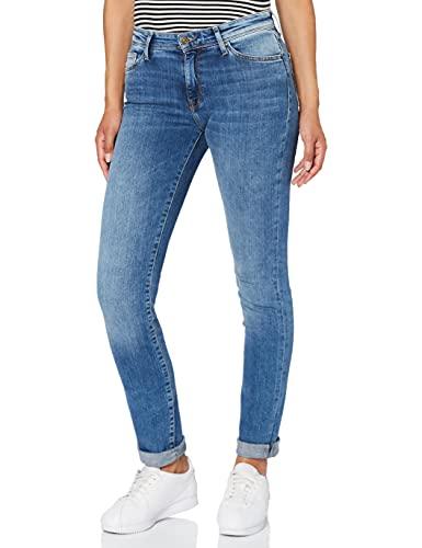 Cross Jeans Damen Anya P 489-153 Slim Jeans, Blau (Mid Blue 153), W31/L34 (Herstellergröße: 31/34)