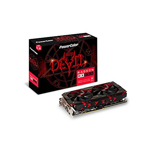 PowerColor AXRX580 8GBD5-3DH/OC Grafikkarte, 8GB Speicher grau