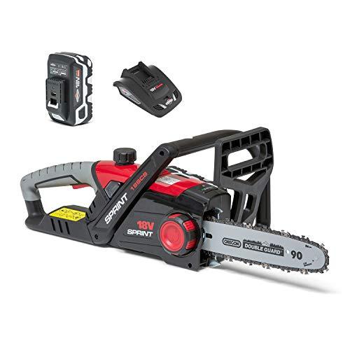 Kit Tronçonneuse à Batterie Sprint 18SCK 18V Li-Ion 25cm, Batterie 5 Ah et Chargeur Inclus, Garantie 5 Ans, 1688109