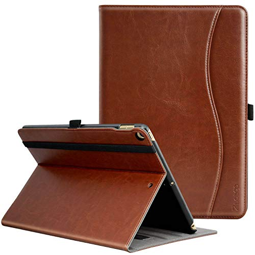 ZtotopCase Case for ipad Air 2/Air 1/iPad 9.7 Inch 2018/2017(5th/6th generation),Premium PU leather Business Stand Folio Cover for ipad,Document Card Slots,Smart Cover Auto Wake/Sleep,Brown