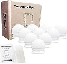 VIPMOON Vanity Mirror Lights, 5m USB Cable Hollywood Mirror Lights, 5 Lights Modes 3200K-6500K, 10 Dimmable Bulbs LED Make...