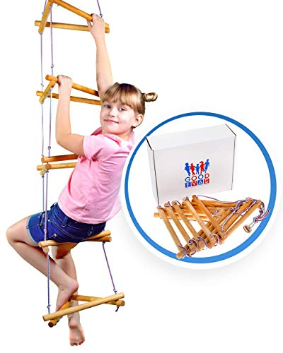 Triangle Rope Ladder for Kids - Сlimbing Toys for Jungle Gym - Swing Set Accessories for Kids 3-12 y.o - Playground Equipment for Monkey Bars
