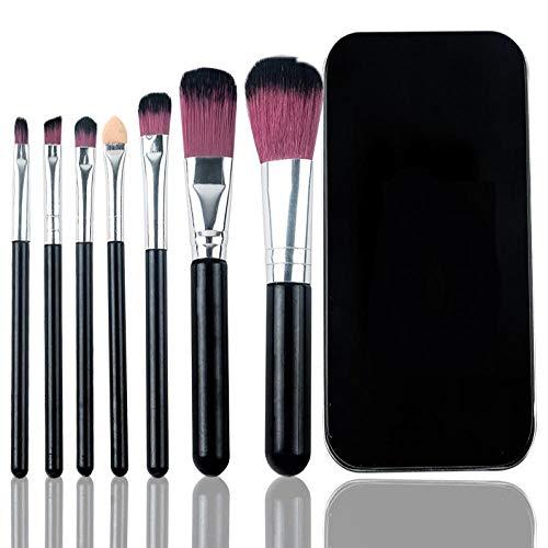 Ensemble De 7 Pinceaux De Maquillage, Pinceau À Paupières Rose Portable