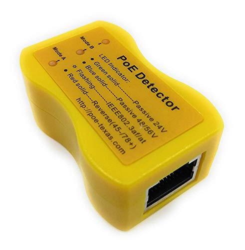 PoE-Detector: identifica rápidamente el método y el Voltaje de Power Over Ethernet; 802.3af / at/BT, pasivo, 24v, 48v o 56v; Modo A o Modo B para Todos los interruptores PoE e inyectores