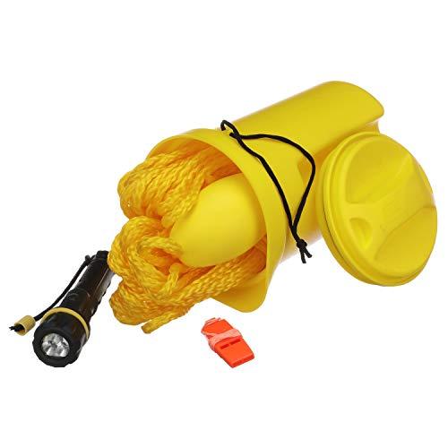 SEACHOICE 45431 Kit de sécurité pour bateau Unisexe avec lampe de poche, sifflet, ligne de 50 pieds et harnais de barrière, jaune, non spécifié
