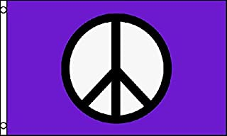 Peace Purple Flag 3x5 ft Poly