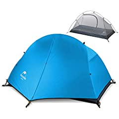 "LARGE SIZE FOR 1 PERSON -- Double layers. Inner layer size: 80.7""(L) x 37.4""(W) x 43.3""(H). Outer layer with extra 24"" long vestibule for storage room. Ultralight Weight: 3.63lbs with 20D version, 3.96lbs with 210T version(including accessories). THE..."